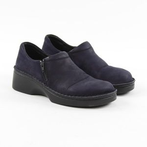 Naot Clogs Navy Leather Slip On Side Zip Shoes